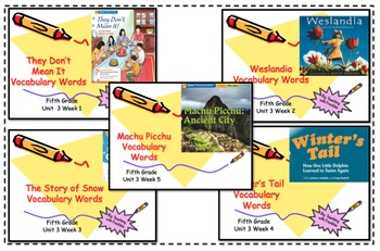 Wonders Reading Grade 5 Vocabulary PowerPoints Unit Three