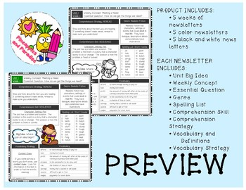 Wonders Reading Grade 5 Weekly Newsletter *BUNDLE*