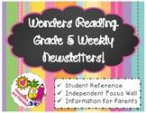 Wonders Reading Grade 5 Weekly Newsletter *BUNDLE*