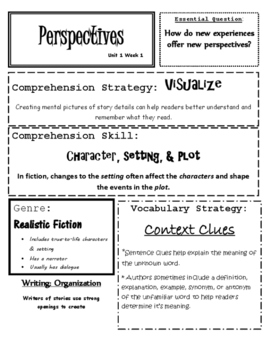 Wonders Reading Grade 6 Focus Wall Unit 1