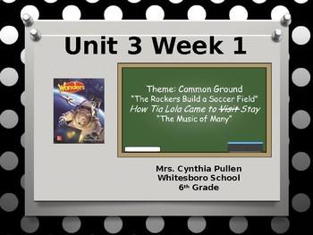 Wonders Reading Grade 6 Unit 3 Week 1