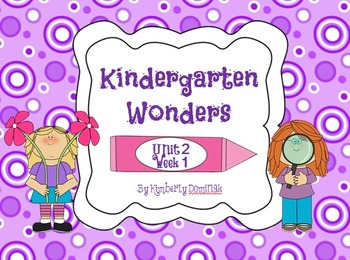 Wonders Reading for Kindergarten: Unit 2 Week 1 Extension