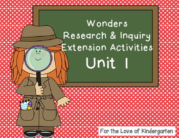 Wonders Reading Research and Inquiry Extension Projects Unit 1