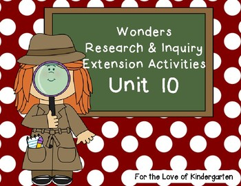 Wonders Reading Research and Inquiry Extension Projects Unit 10