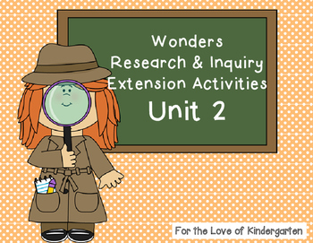 Wonders Reading Research and Inquiry Extension Projects Unit 2