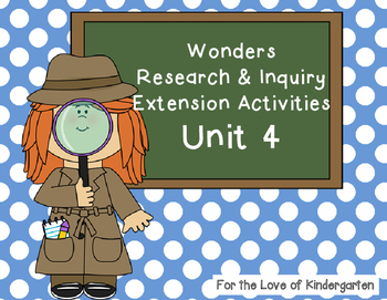 Wonders Reading Research and Inquiry Extension Projects Unit 4