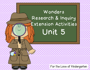 Wonders Reading Research and Inquiry Extension Projects Unit 5