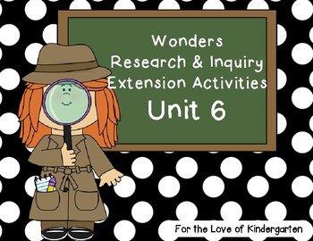 Wonders Reading Research and Inquiry Extension Projects Unit 6
