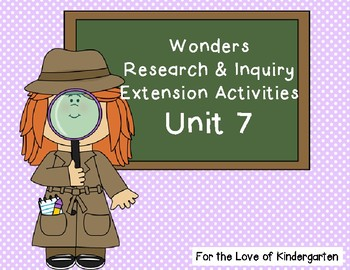 Wonders Reading Research and Inquiry Extension Projects Unit 7