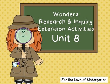 Wonders Reading Research and Inquiry Extension Projects Unit 8