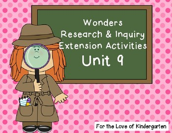 Wonders Reading Research and Inquiry Extension Projects Unit 9