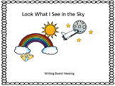 What I can see in the sky writing response Wonders  Unit 8 Week 3