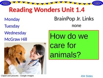 Wonders Reading Second Grade Power Point Unit 1.4