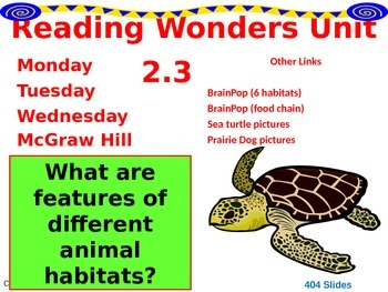 Wonders Reading Second Grade Power Point Unit 2.3