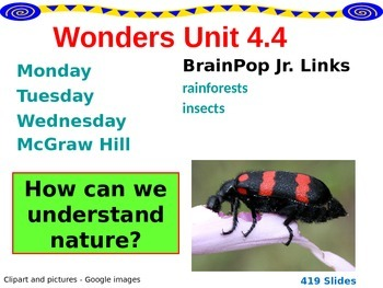 Wonders Reading Second Grade Power Point Unit 4.4