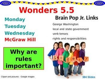 Wonders Reading Second Grade Power Point Unit 5.5