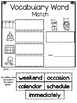 Wonders Reading Series, 1st Grade, Unit 3, Vocabulary Packet