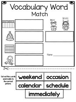 Wonders Reading Series, 1st Grade, Unit 3, Vocabulary Packet
