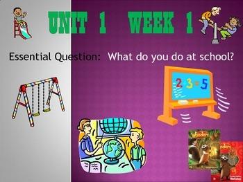 Wonders Reading Series 1st grade Unit 1 Week 1 Vocabulary