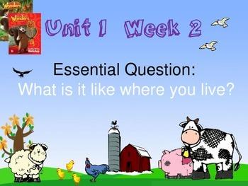Wonders Reading Series 1st grade Unit 1 Week 2 Vocabulary