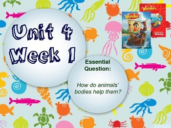 Wonders Reading Series 1st grade Unit 4 Week 1 Vocabulary