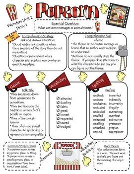 Wonders Reading Series 4th Grade Newsletter: Unit 2, approaching/beyond spelling