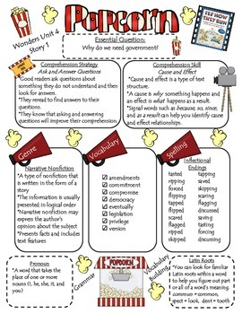 Wonders Reading Series 4th Grade: Unit 4, Lessons 1-5