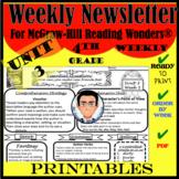 Wonders Reading Series 4th Grade Weekly Newsletter: Unit 3