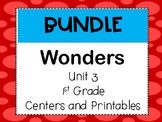 Wonders Reading Series, Unit 3, 1st grade, Centers and Printables
