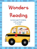 Wonders Reading Series, Centers and Printables, Unit 3, Week 1, 1st Grade