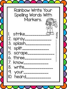 Wonders Reading Series, Centers and Printables, Unit 6, Week 4, 1st Grade