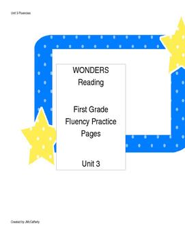 Wonders Reading Series First Grade Fluency Practice Unit 3