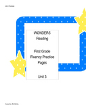 Wonders Reading Series First Grade Fluency Practice Unit 3