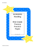 Wonders Reading Series First Grade Fluency Practice Unit 1