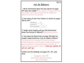 Wonders Reading Series- Hot Air Balloons RI 2.5