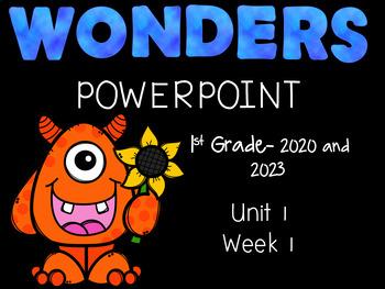 Wonders Reading Series, Interactive PowerPoint, Unit 1, Week 1, 1st Grade
