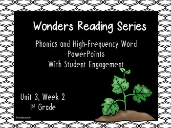 Wonders Reading Series, Interactive PowerPoint, Unit 3, Week 2, 1st Grade