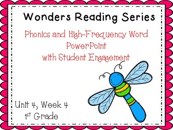 Wonders Reading Series, Interactive PowerPoint, Unit 4, Week 4, 1st Grade