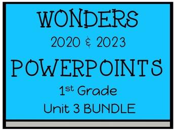 Wonders Reading Series, Interactive PowerPoints, Unit 3,1st Grade
