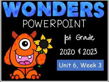 Wonders Reading Series, Interactive PowerPoint, Unit 6, Week 3, 1st Grade