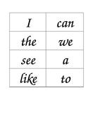 Wonders Reading Series Kindergarten sight word flashcards