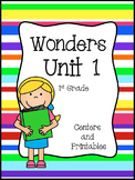 Wonders Reading Series, Unit 1, Weeks 1 - 5, 1st Grade, Centers and Printables