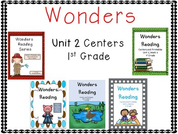 Wonders Reading Series, Unit 2, 1st grade, Centers and Printables