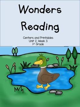 Wonders Reading Series, Unit 2, Week 3, 1st grade, Centers and Printables