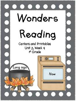 Wonders Reading Series, Unit 3, Week 4, 1st grade, Centers and Printables