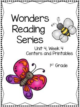 Wonders Reading Series, Unit 4, Week 4, 1st grade, Centers