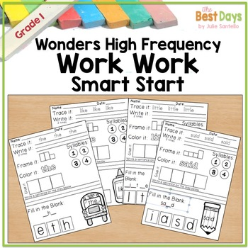 Wonders Reading:  Smart Start Word Work First Grade