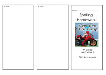 Wonders Reading Spelling Brochure Unit 1 Week 1 On Level