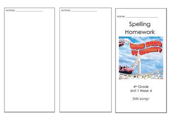 Wonders Reading Spelling Brochure Unit 1 Week 4 On Level