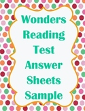 4th grade Wonders Reading Test Answer Sheet Sample